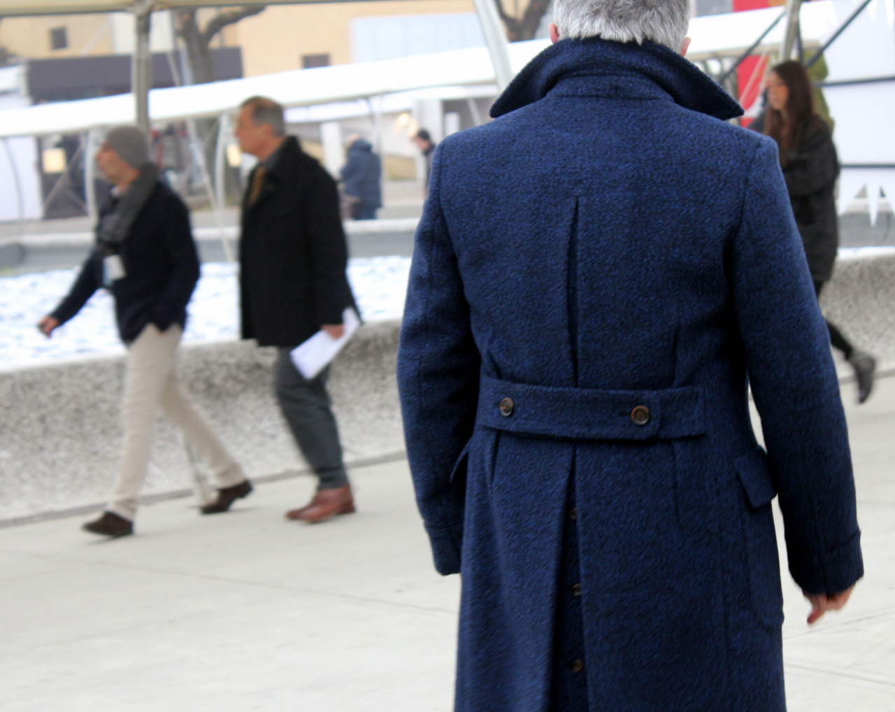 Saturday blues part II - One of the best overcoats seen at Pitti.