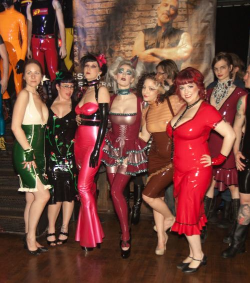 Here is one of the photos from our fashion show at Beatbox with the SF Girls of Leather! So many beautiful ladies in so much beautiful latex!