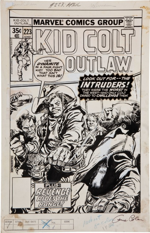 Here's Gene Colan and Tom Palmer's cover to KID COLT, OUTLAW #223.