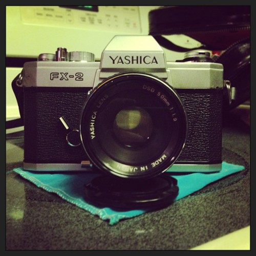 #Yashica #film #camera #vintage #old #awesome #photography #happy  I love my parents stuff!!!!