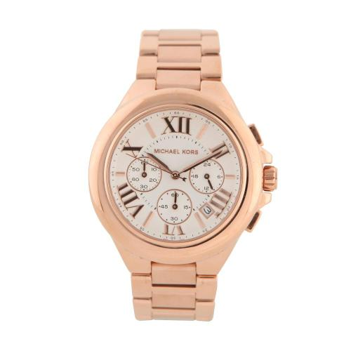 wantering:  Michael Kors Camille Mid-Size Chronograph Rose Gold Watch