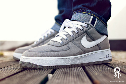 rooog:  Nike Air Force 2003 Grey Canvas on Flickr.