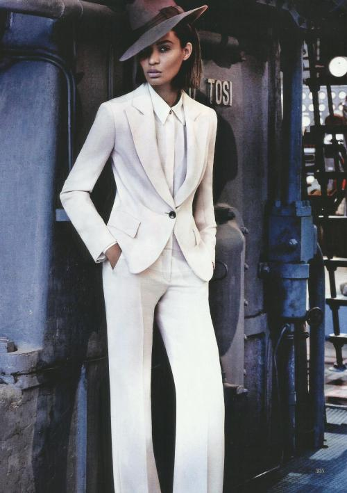 Joan Smalls for Vogue March 2013 (in Giorgio Armani)