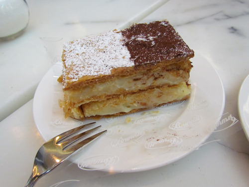 Brunetti in Dubai, UAE Mille-Feuille  Amazing taste, so soft and crispy at the same time…