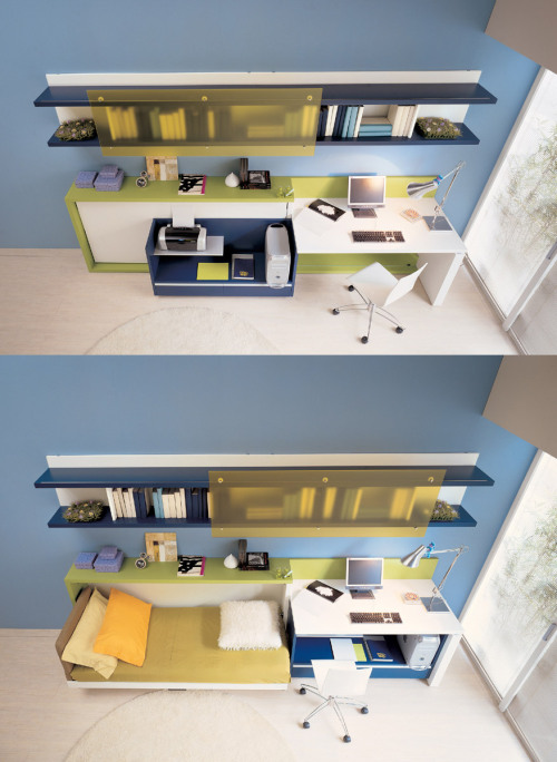 homedesigning:  Space saving teens rooms