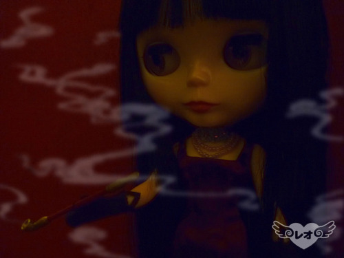 smoke~ on Flickr.Via Flickr: Finally got Yuuko-san her kiseru. She's smokin' hot, isn't she? ♥ Yuuko-san wears a satin burgundy slim dress, brown gloves and lace and pearl necklace by Leo COUTURE, based on xxxHOLiC: Manatsu no Yoru no Yume film. Kiseru by Leo COUTURE.