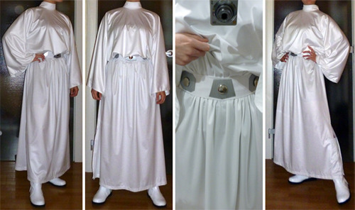 aigue-marine:  Okay! Princess Leia's outfit is finally finished. Took me long enough. didn't it?Let's see if I can finish the wig next week… The last week before Christmas is always the busiest! ;)