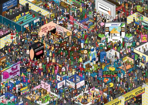 Can you find your favorite character? I found Dexter :D Look at it in high res to see everything.