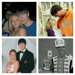 Troy and I over the years! I love you :)