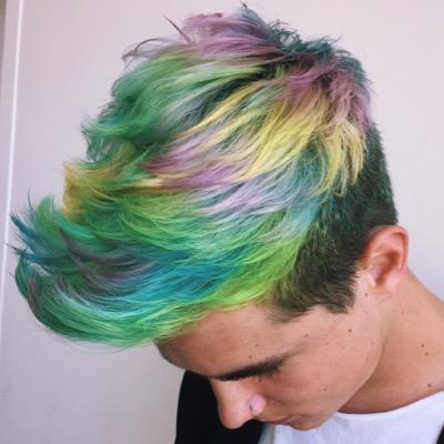 Rainbow hair curly