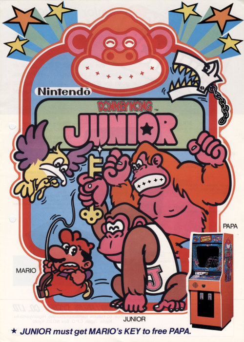 suppermariobroth:  Arcade flyer for Donkey Kong Jr.