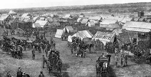 "Dawes Act Dawes Act or General Allotment Act, 1887, passed by the U.S. Congress to provide for the granting of landholdings ( allotments, usually 160 acres/65 hectares) to individual Native Americans, replacing communal tribal holdings. Sponsored by U.S. Senator H. L. Dawes, the aim of the act was to absorb tribe members into the larger national society. Allotments could be sold after a statutory period (25 years), and ""surplus"" land not allotted was opened to settlers. Within decades following the passage of the act the vast majority of what had been tribal land in the West was in white hands."