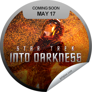 I just unlocked the Star Trek Into Darkness Coming Soon sticker on GetGlue                      6754 others have also unlocked the Star Trek Into Darkness Coming Soon sticker on GetGlue.com                  You can't wait to beam yourself to the movie theater to see Star Trek Into Darkness which opens on 5/17. Live long and prosper.  Share this one proudly. It's from our friends at Paramount Pictures.