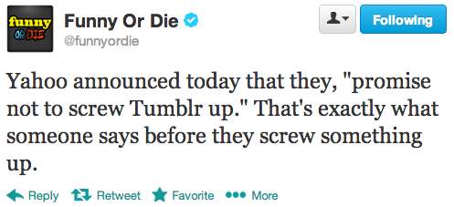 funnyordie:  Promises = Warnings @funnyordie  Bye tumblr ur about to become a commercially driven website (tears strolling down my face…)