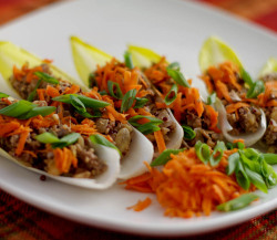 findvegan:  Ginger Quinoa Endive Boats