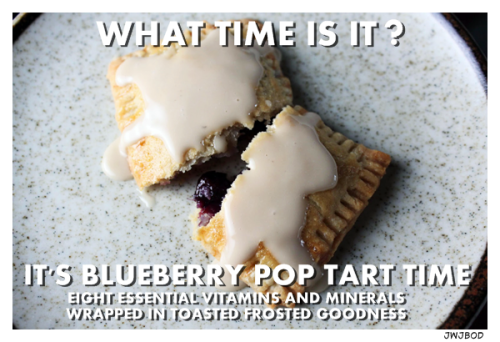 Mmmm….Blueberry Pop Tarts! The Breakfast of Champions for people who shouldn't be around open flames until after they've had their coffee…..