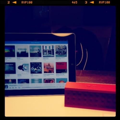 Hotel wireless, iPad, Rdio, and my Jambox. A great combo! #Rdio #Jambox (at The Langham)