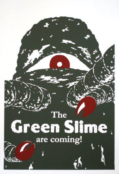ronaldcmerchant:  promotion ad for the GREEN SLIME (1968)