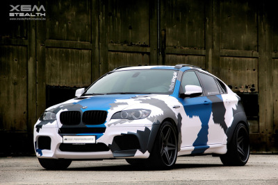 automotivated:  Inside Performance BMW X6 M Stealth (by Revistadelmotor)