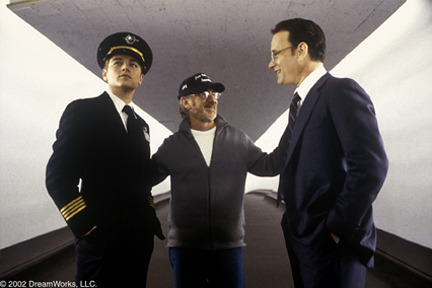 Leonard DiCaprio, Steven Spielberg, Tom Hanks in Catch Me if You Can