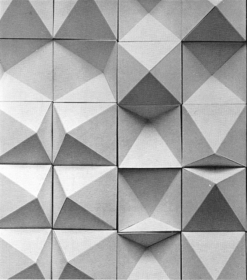 betonbabe:  ROBERT DICK CONVEX AND CONCAVE TILES, 1960s
