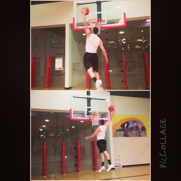 Getting my bounce back.  @ktyshawnd #basketball #dunk #dunking #JustDoIt #JustDunkIt #24hourfitness #gym #alleyoop #bang #riseup #slamdunk #hooping #baller #bounce #highflyer #tfb #TeamFlightBrothers #above