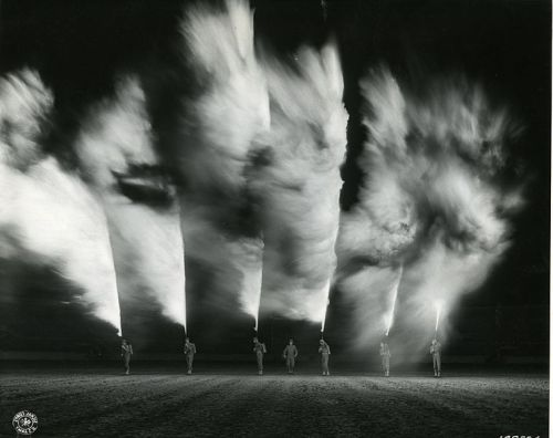 demons:  Flamethrowers demonstrated in New Orleans at the US Army War Show, 27 Nov 1942