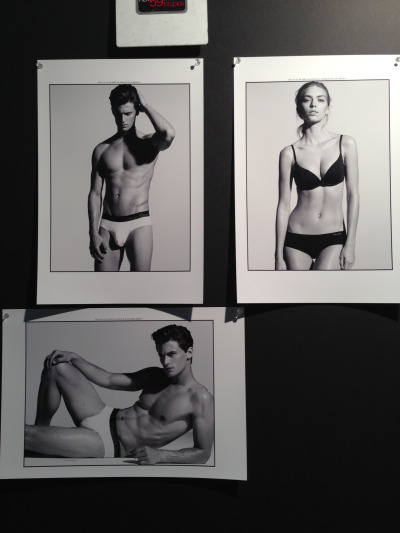 Garrett and Emily for Calvin Klein Underwear, January 2013.