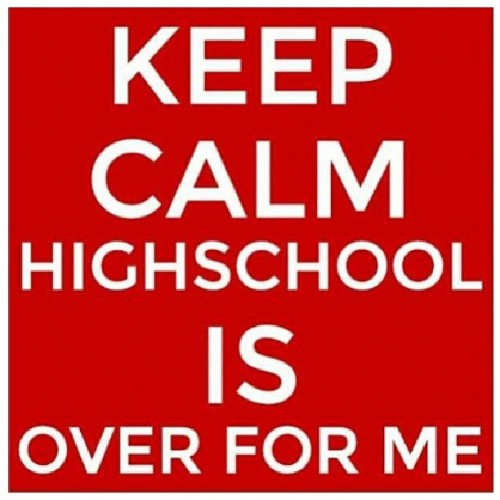 C/o 2013!!!! Bitch we outta here! 5 more hours!!!!