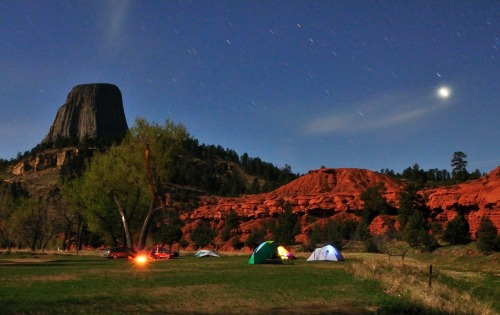 Camping next to Devil's Tower. It doesn't get much better than this. Photo: Jolanta Surowiec