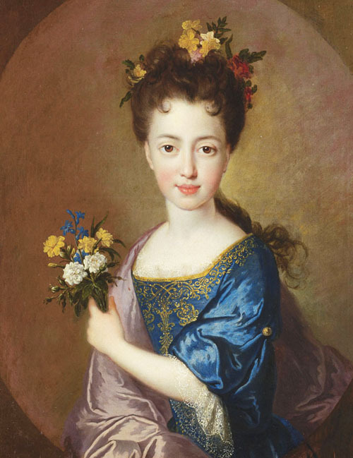 jaded-mandarin:  Francois De Troy. Portrait of Princess Louise-Marie Stuart, 17th Century.