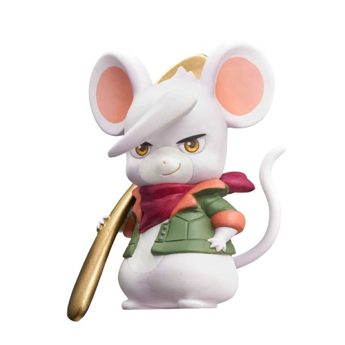 """diligentnewtype:requiemjesta:hobbylinkjapan:The """"space rats"""" of """"Mobile Suit Gundam: Iron-Blooded Orphans"""" have been turned into mice for this adorable figure set from MegaHouse!Iron-Blooded Orphans 3-chome no Orphanchu by MegaHouse They made Ein into a rat because that's exactly what he fucking is.Is Ein supposed to be a hamster or a rat? Lol!!!I kind of want the Biscuit mousedamn these are adorkable"""