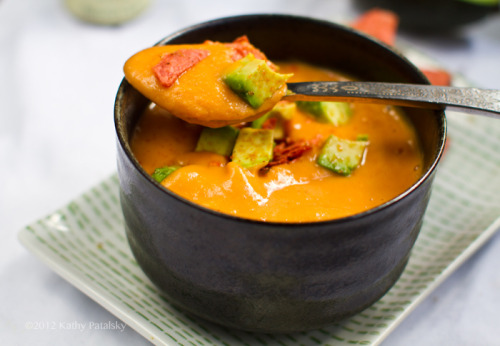 foodopia:  sweet potato soup with avocado: recipe here
