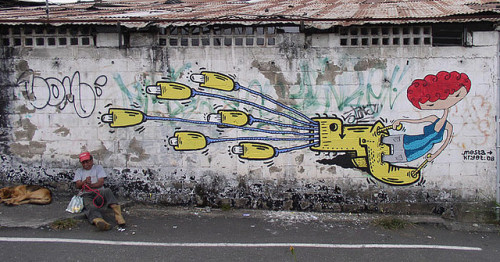dirty wall by Kryot on Flickr.#StreetArt / #Caracas