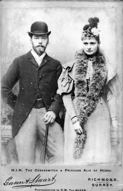 Tsarevich Nicholas Alexandrovich and Princess Alix of Hesse in England: 1894.