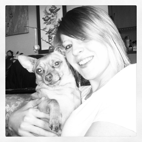 Me an my lil max 😍🐶  #me #max #chihuahua #dogoftheday #dailyphoto #blackandgrey #pretty #monochrome #lovehim #joy #smile #happy #cute #dog #pup #mylilman @leeblakejones  (at my sofa)