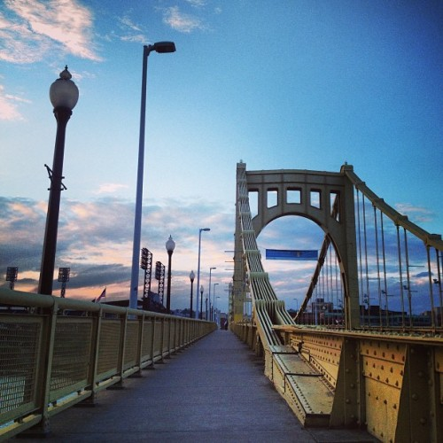 Bridge in Pittsburgh (at Roberto Clemente Bridge)