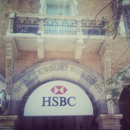 One of Shaftesbury Buildings in Port Said now hosts an HSBC Bank, Egypt