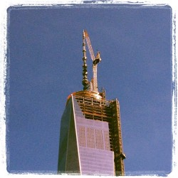 Better Angle. #wtc1 #1776 #TopOff #NYC ^ps (at 120 Greenwich St. Rooftop)