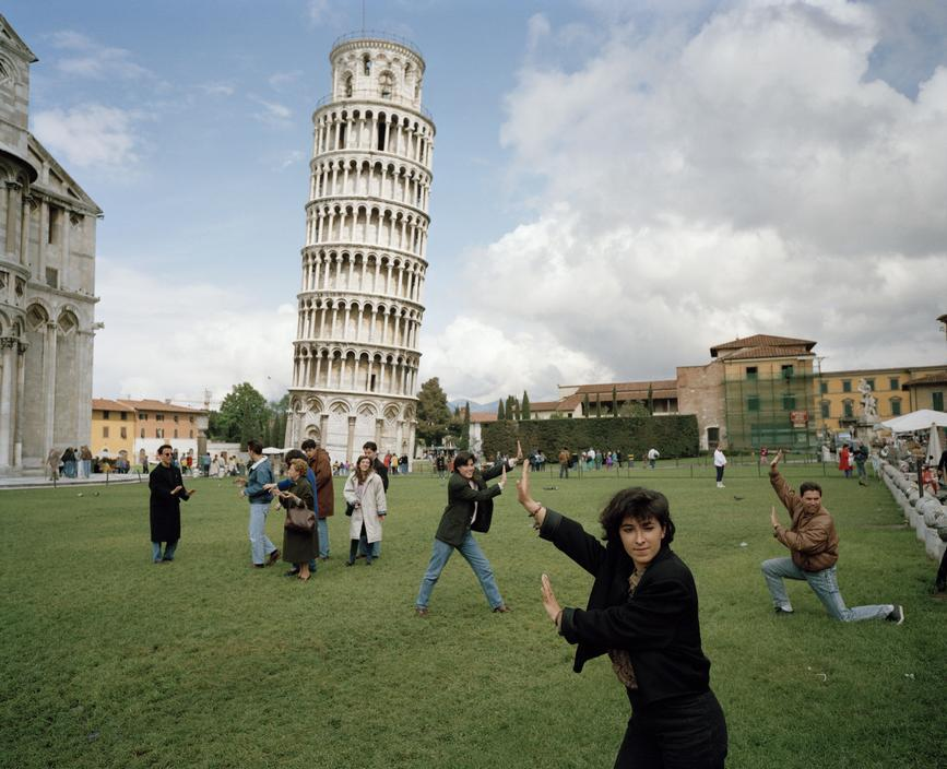 museumuesum:   Martin Parr  ITALY. Pisa. The Leaning Tower of Pisa., 1990  c-print, 16.7 x 20.5 inches (42.5 x 52.1 cm)