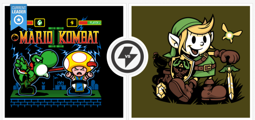 'Mario Kombat II' and and 'Vintage Link' ~ by harebrained View Details for 24hrs: http://bit.ly/tee_fury_custom_tshirt