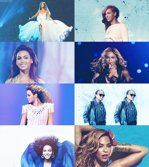 color meme: beyoncé + blue