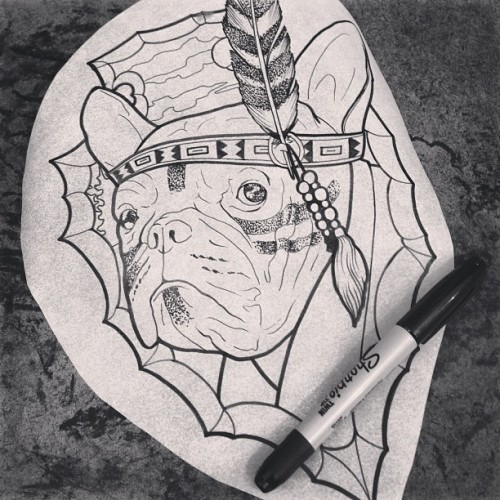 #barrymoretattoo #lovelifetattoo #llt #Indian #drawing #FrenchBulldog #tattoo #tattoos #traditiontattoo #oldschooltattoo #russia #moscow #fuckyeahtattoos