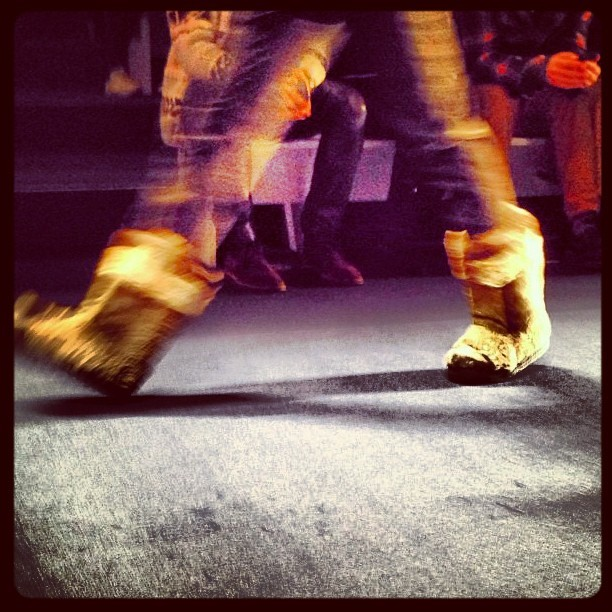A bit of sheepskin to channel our inner barbarian #etro #mfw #attheshows