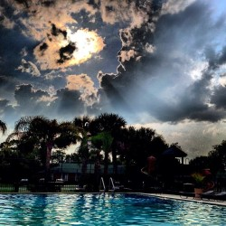 #sky #clouds #cloudaholic #pool #florida