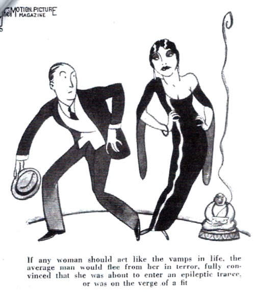 "Vamp comic illustration from ""Motion Picture Magazine"" - 1932"