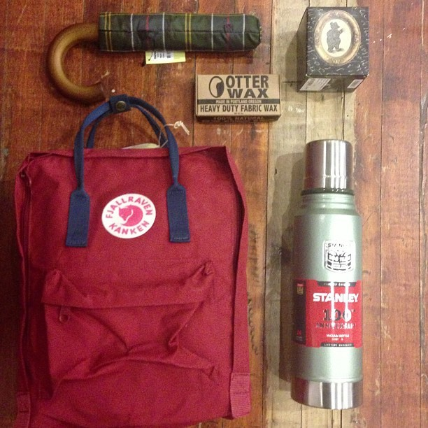 welcomestrangersf:  #fjallraven #barbour #otterwax #stanley #rainydays