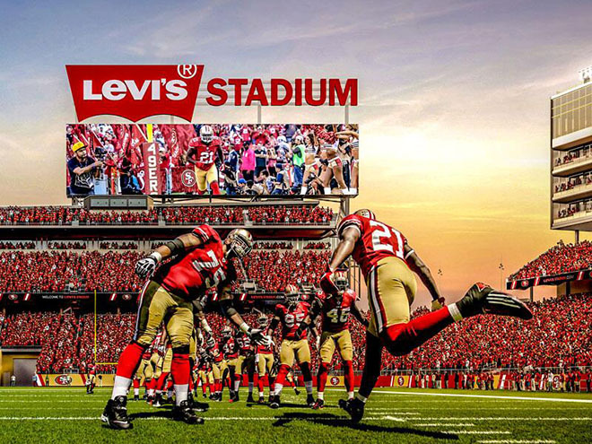 Field of Jeans: Levi's will be the corporate sponsor of the new 49ers stadium in Santa Clara, Calif.