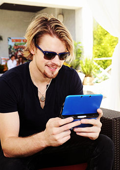 Chord Overstreet attends Donkey Kong Island Pool Party, May 18th
