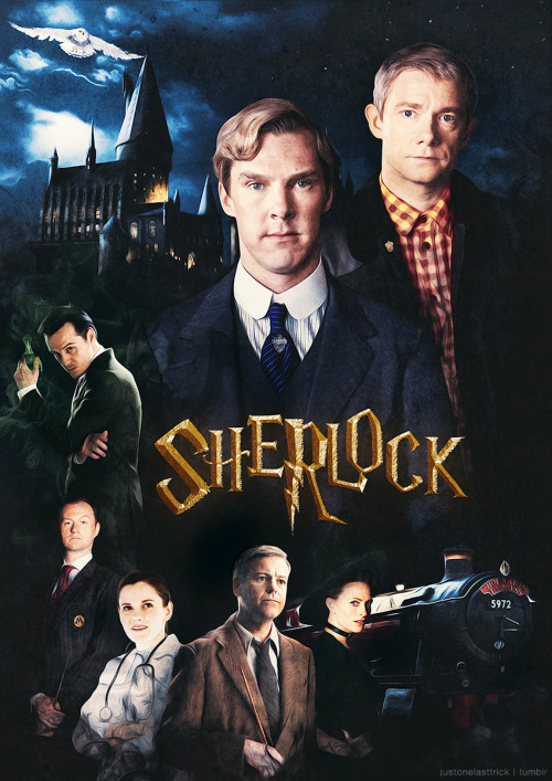 justonelasttrick:   Sherlock / Harry Potter Crossover movie poster inspired by this post (x)